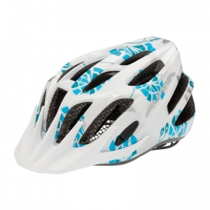 Kask ALPINA FB Junior 2.0 white/cyan/silver 50-55