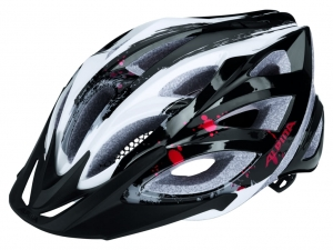 KASK ALPINA SEHEOS BLACK-WHITE-RED