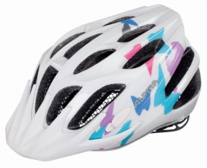 Kask ALPINA FB Junior 2.0 white/butterfly 50-55